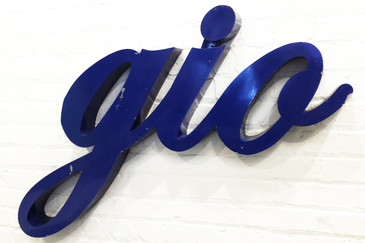 "SOLD - Vintage Aluminum Channel Letter ""Gio"" Sign"