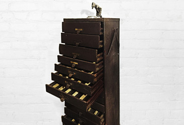 SOLD - Germanow & Simon Multi-Drawer Storage Cabinet, 1940s