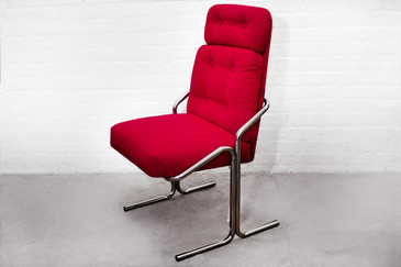 Douglas Of California Chrome Tube Lounge Chair, 1970s