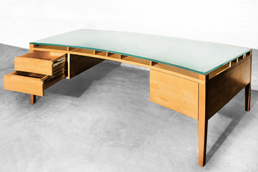 SOLD - Massive Custom Made Executive Desk. C. 1990s