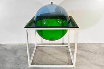 SOLD - Lucite Orb Dish with Lift off Top, 1970s