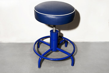 SOLD - Vintage Stool, Refinished in Electric Blue