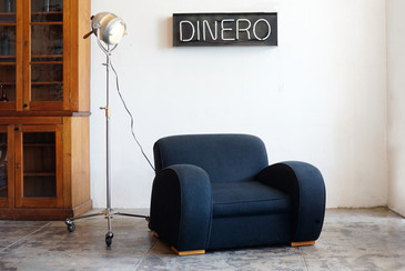 SOLD - 1930s Art Deco Massive Streamline Club Chair