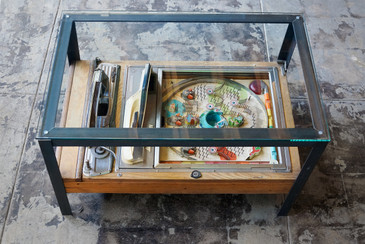 SOLD  - Japanese Pachinko Game, Repurposed as Side Table