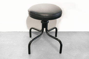 SOLD - Vintage Counter Stool in Gloss Black, circa 1960