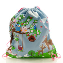 Bobble Art Woodland Drawstring Bag