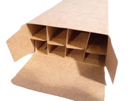 Closeup of the assembled CFS Chipboard Box ready to receive food items