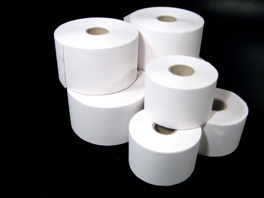 The two sizes of Till Rolls shown together