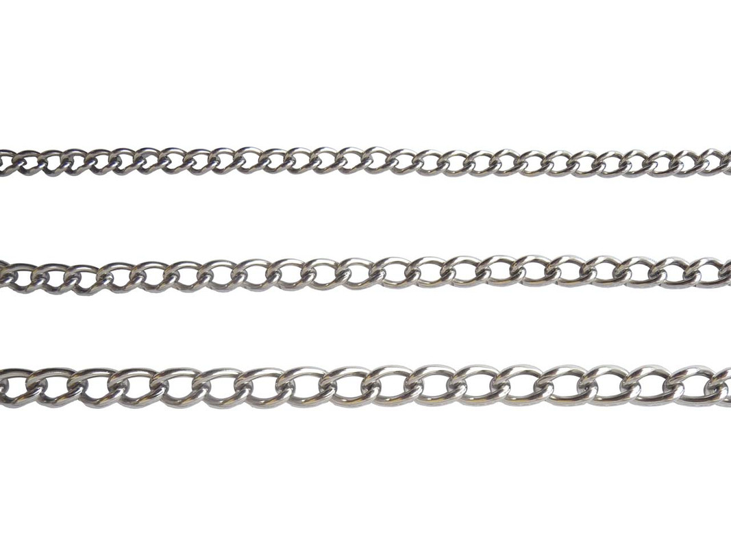 The three sizes of unwelded Stainless Steel Chain