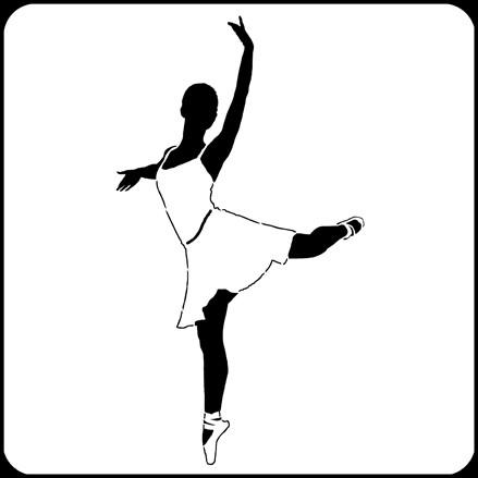 """6"""" x 6"""" Ballerina 1 Stencil A Colorful Life"""