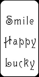 Smile Words Stencil