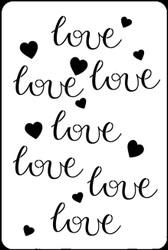 """6"""" x 9"""" -  Love Stencil A Colorful Life"""