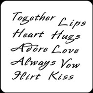 6 x 6 Love Words