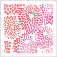 Showy Blooms Stencil