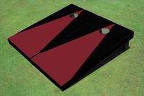 Maroon And Black Matching Triangle No Stripe Custom Cornhole Board