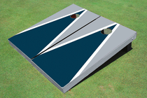 Navy And Gray Matching Triangle Custom Cornhole Board