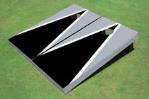 Black And Gray Matching Triangle Custom Cornhole Board