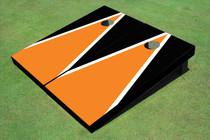 Orange And Black Matching Triangle Custom Cornhole Board