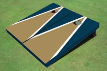 Dark Gold And Navy Matching Triangle Custom Cornhole Board - Aat-1297