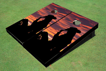 Cowgirl # 1 Custom Cornhole Board
