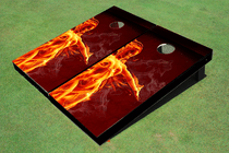 Fire Girl Cornhole Board