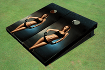 Girl Boxer Themed Cornhole Boards