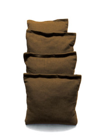 4 Brown Cornhole Bags