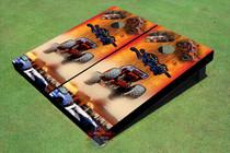 Strait Jacket Monster Truck Custom Cornhole Board
