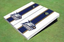 Georgia Southern University Head Logo Blue And White Matching Long Stripe Cornhole Boards