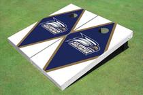 Georgia Southern University Head Logo Blue And White Matching Diamond Cornhole Boards