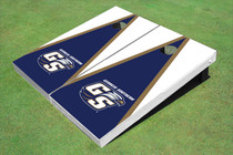 "Georgia Southern University ""GS"" Blue And White Matching Triangle Cornhole Boards"