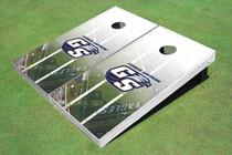 "Georgia Southern University ""GS"" Stadium Long Strip Custom Cornhole Board"