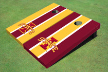 "Iowa State University ""I"" Alternating Long Stripe Custom Cornhole Board"