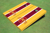 "Iowa State University ""I"" Red And Yellow Matching Long Stripe Custom Cornhole Board"