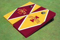 "Iowa State University ""I"" Alternating Diamond Custom Cornhole Board"