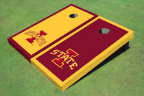 "Iowa State University ""I"" Alternating Border Custom Cornhole Board"