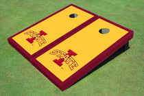 "Iowa State University ""I"" Red Matching Border Custom Cornhole Board"
