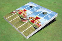 "Iowa State University ""I"" Stadium Long Strip Custom Cornhole Board"