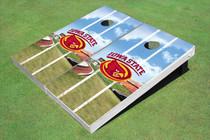 Iowa State University Cyclone Stadium Long Strip Themed Cornhole Boards