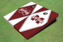 "Mississippi State University ""M"" Alternating Diamond Custom Cornhole Board"