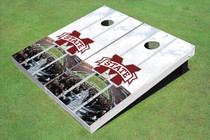 "Mississippi State University ""M"" Stadium Long Strip Custom Cornhole Board"