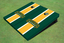 Baylor University Arch Yellow And Hunter Green Matching Long Stripe Cornhole Boards