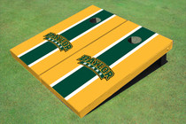 Baylor University Arch Hunter Green And Yellow Matching Long Stripe Custom Cornhole Board