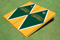 Baylor University Arch Hunter Green And Yellow Matching Diamond Custom Cornhole Board