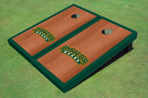 Baylor University Arch Hunter Green Rosewood Matching Borders Custom Cornhole Board