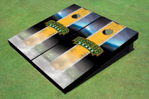 Baylor University Arch Field Long Strip Matching Yellow Custom Cornhole Board