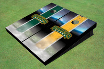 Baylor University Arch Field Long Strip Alternating Themed Cornhole Boards