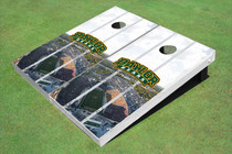 Baylor University Arch Stadium Long Strip Custom Cornhole Board