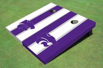 Kansas State University Wildcats Alternating Long Stripe Cornhole Boards