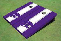Kansas State University Wildcats White And Purple Matching Long Stripe Cornhole Boards